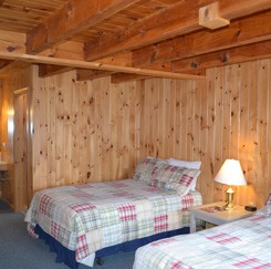 Moose Crossing bedroom with two twin beds
